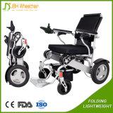 Fauteuil roulant se pliant électrique de batterie au lithium pour des handicapés