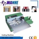 Machine à grande vitesse de codage de clinquant chaud automatique portatif pour le carton