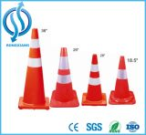 cone reflexivo do PVC das cores fluorescentes do tráfego de 30/50/75cm vário