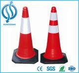cones do tráfego do PE de 50cm com base de borracha