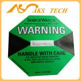 Escritura de la etiqueta sensible del choque del Shockwatch del indicador del impacto