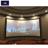 """80 """" ~200 """"ホーム映画館のUHD/3D/4Kによって曲げられる固定わくの映写幕かプロジェクタースクリーン"""