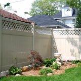 Clôture de la vie privée blanc en vinyle PVC Vinyl avec treillis de clôture de la vie privée