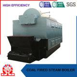 Basse pression 10bar et chaudière à vapeur allumée par charbon horizontal de type