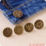 Китай горячая продажа цинка металлического сплава джинсы для одежды