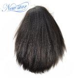 Cabelo humano reto Kinky chinês da densidade cheia da peruca 130% do laço