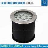 屋外の景色の照明IP67 18W RGB地下LED照明