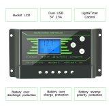 Nova PWM de 30AMP 12V/24V Painel Solar Contraluz Controlador de carga da bateria Z30