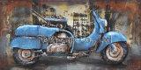 ilustraciones de la pintura del metal 3D para Motobike