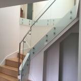 Framless Glasgeländer-hölzernes Treppen-Treppenhaus
