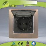 Ce/TUV/BV сертифицирован Европейским стандартом металлический цинк 1 токопроводящей дорожки бронзовый Shuko пылезащитный колпачок разъема