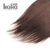Onda naturale di prezzi all'ingrosso clip del Brown da 18 pollici in capelli umani