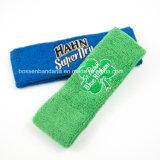 공장 OEM 주문 땀난 머리띠를 로고에 의하여 수를 놓는 녹색 면 수건