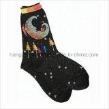 Funktionseigenschaft-Art färbte gekopierte klare Jacquardwebstuhl-Kind-Mannschafts-Socken