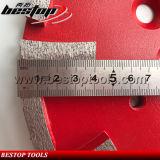10inch 250mm Malende Schijf van de Vloer van de Diamant van de Segmenten van de Staaf van het Metaal de Concrete