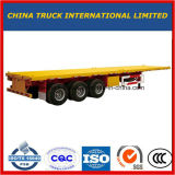 Cimc 3 반 차축 40FT 평상형 트레일러 콘테이너 트럭 트레일러
