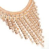 De Halsbanden van de Legering van de manier met Leeswijzers met Oorringen, de Reeks van de Juwelen van de Manier