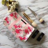 装飾的な袋の高品質の女性防水旅行洗面用品袋Necessaireが作る花によって縞で飾られるブランドは袋に入れる