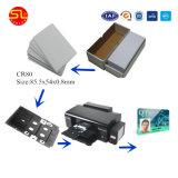 Cartão de PVC para jato de tinta branco imprimível para impressora Epson L800