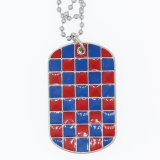 Kundenspezifische MetallGroßhandelshundeplakette mit Kugel-Halskette