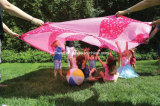 Giocattolo variopinto di addestramento dei paracadute dell'ombrello del Rainbow per lavoro di squadra del gioco del gruppo