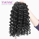 Trama profonda non trattata dei capelli umani dell'onda di alta qualità 8A di Yvonne