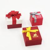 De Doos van de Juwelen van de Gift van de Ring van de Leverancier van China met de Boog van het Lint (j86-BIJL)