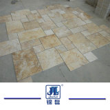 Aperfeiçoaram natural corte francesa de travertino bege para cozinha/banheiro/Sala/Piscina/ Azulejos do piso/Mosaico Tile/Lareira Mosaico de placas
