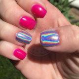 Laser de la poudre d'argent miroir holographique Nail brille Chrome Pigment fournisseur
