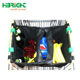 スーパーマーケットのためのハンドルが付いているクラフト紙の買物をする携帯用袋