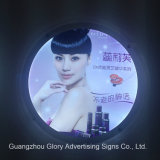 Casella chiara di cristallo di pubblicità acrilica del LED Frameless