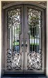 Hersteller-China-direkter Preis-bearbeitetes Eisen-Haustür-Außeneintrag-Metalltüren (EI-029)