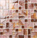 Mosaico de vidro da telha da decoração do mosaico do cristal para a cozinha Backsplash