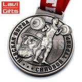 Il nuovo stile del commercio all'ingrosso caldo di vendita ha annunciato la medaglia nebbiosa placcata del premio del ricordo del metallo della corsa di sport dello smalto dell'oro impressa 3D di abitudine