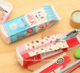 도매 가죽 창조적인 공상 우유 디자이너 연필 부대