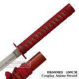 Anime japonês espada samurai Espada Katana Espada 100cm