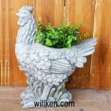 Le cygne blanc de granit de qualité conçoit le bac de fleur pour la seule décoration de Chambre