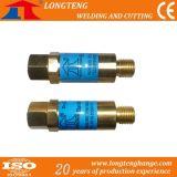 dispositivo di arresto di ritorno 1/4 ad ossigeno e gas d'ottone per la tagliatrice di CNC