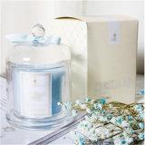 Cera de soja tipo Vela Perfumada de luxo no copo de vidro e caixas de papelão de topo de gama