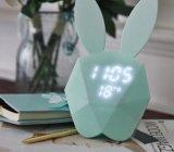 Симпатичный и стильный будильник формы кролика зайчика для домашних подарков украшения и детей