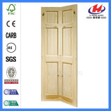 Дверь древесины Teak двойных листьев деревянная твердая классицистическая