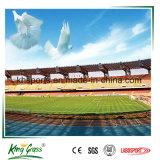 tappeto erboso artificiale della fibra del gambo di 60mm W per il campo di calcio di gioco del calcio