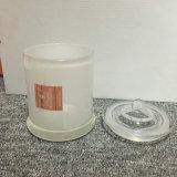 Australien-weiße innere Sprühglasglas-Kerze mit Glaskappe