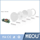 Ultra mince panneau 9W Ra80 plafond à LED de logement de la lumière avec ce RoHS