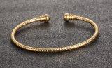Blumengoldgeöffnete Armband-handgemachte 18K Vergoldung-Stulpe Bangles&Bracelets für Frauen-Schmucksache-Hochzeits-Zubehör