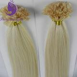 100% волос человека до кабального I/U/V/удлинитель волос с плоским наконечником кератин волос (UT15)