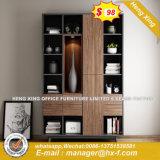 Folheado de madeira brilhante MDF Armário Estante armário de arquivos do Office (HX-8ª9744)