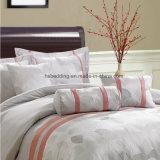 Мягкого хлопка/полиэстер в светло-розовых белый жаккард постельное белье,
