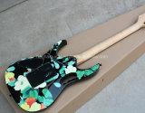 Musique de Hanhai/belle guitare électrique avec la configuration de pivoine