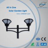 Environmental Friendly lumière solaire pour le jardin avec 3m Pole